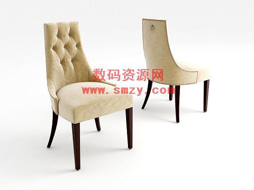 3d欧式椅子模型下载