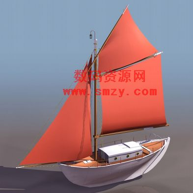 木制古帆船3D模型11下载图片