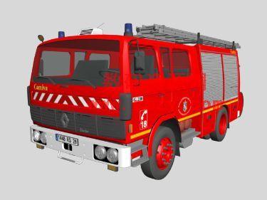3dmax消防车模型