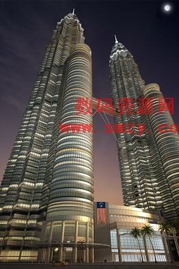 3d模型 吉隆坡双塔大厦下载