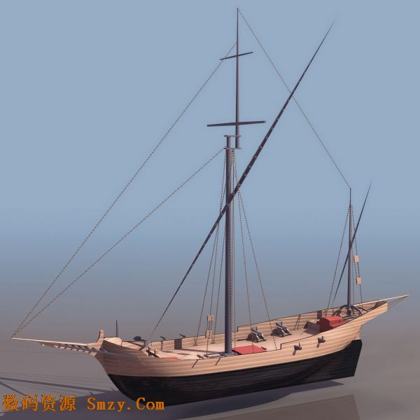 素材 设计 3d模型/3D模型单桅杆帆船的软件界面