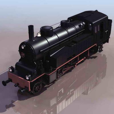 3d模型 火车头2