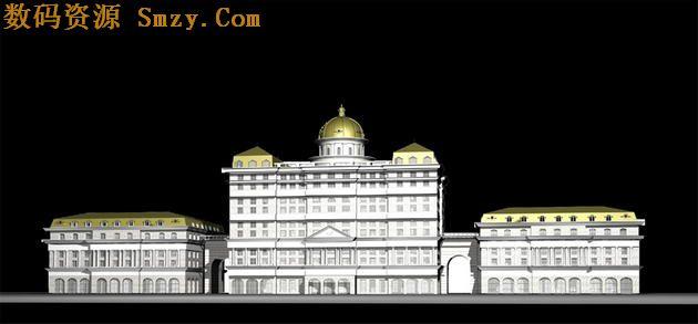 欧式城堡3d模型下载- max源文件