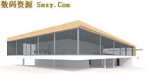 建筑物3d模型 国外小型别墅