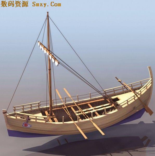 3D模型 木制古帆船12下载图片