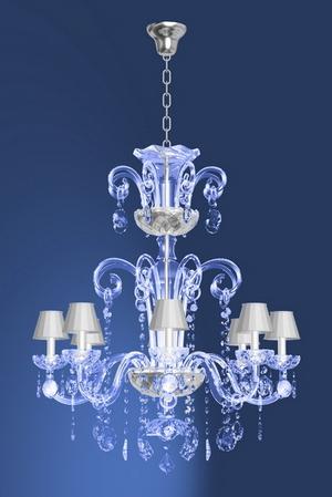 灯具3d模型 餐厅水晶吊灯