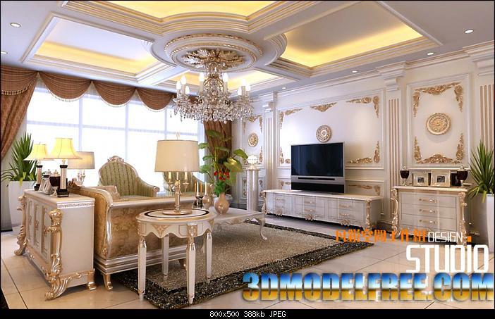 3dmax现代客厅模型图片