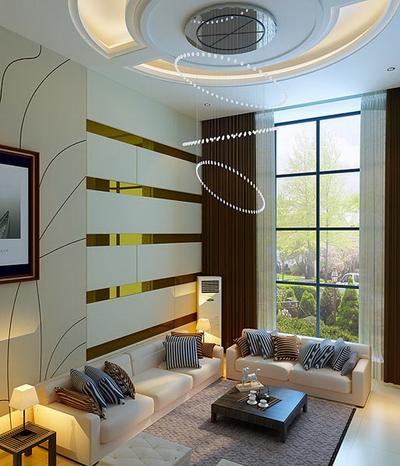 免费3d模型 别墅客厅装修效果图