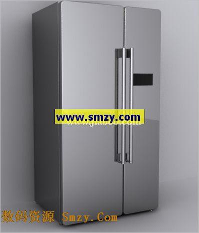 双开门电冰箱 家电3d模型