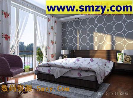 卧室装修设计3d模型