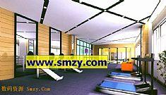 室內3d模型 健身房