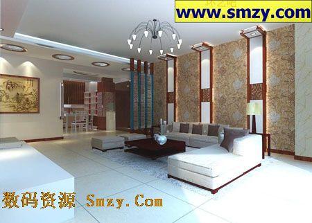 室内3d模型 客厅餐厅装修设计效果图高清图片