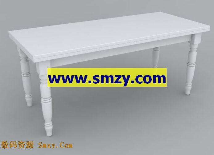 白色木质长形桌子