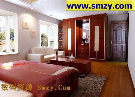 室内3d模型 大卧室装修效果图高清图片