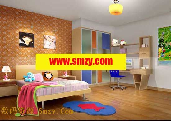 儿童房卧室3d模型下载