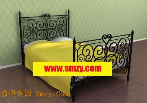 卧室家具3d模型 儿童单人床