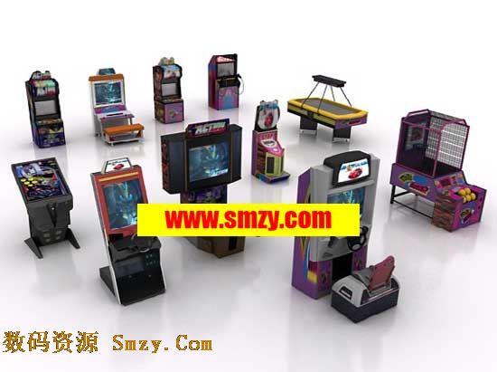 游戏机3d模型 多款大型电玩游戏机