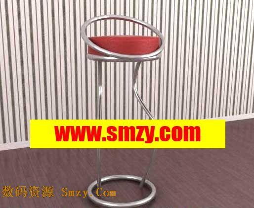 吧台椅模型_吧台椅353D模型库3d侠3D模型下载网