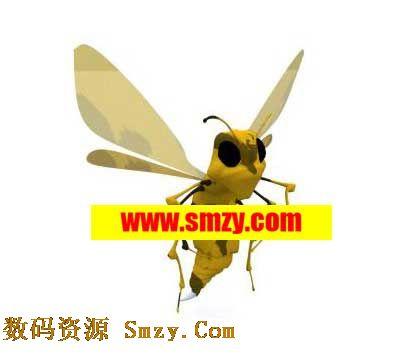 昆虫3d模型 黄色卡通小飞虫下载