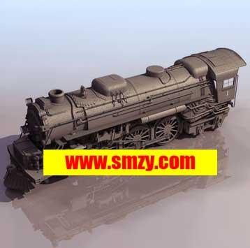 免费火车头3d模型下载