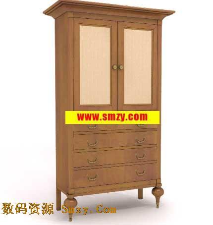 家具3d模型 欧式古典木质柜子下载