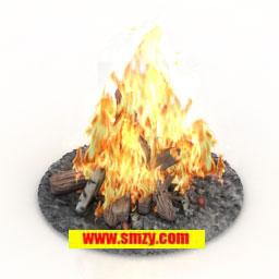 3d篝火火堆模型下載