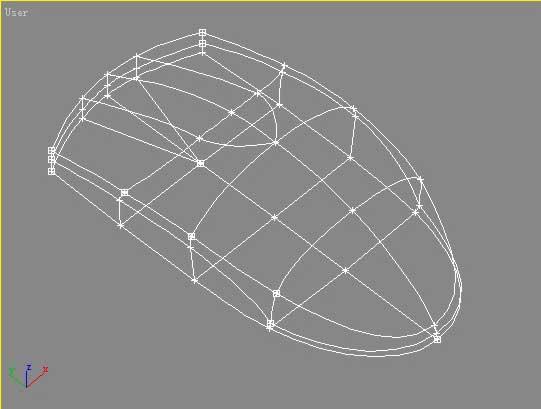 首先,用 line 线条作出基本框架结构,注意,在出现鼠标缝隙的地方划出