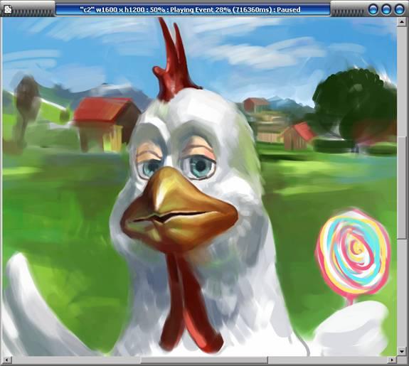 手绘教程《鸡年画鸡》(二)