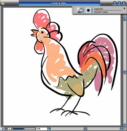手绘教程《鸡年画鸡》(三)