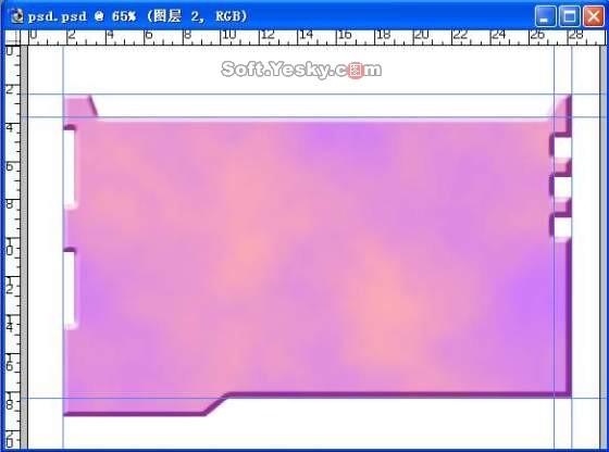 PS图层和滤镜表现凹凸效果界面