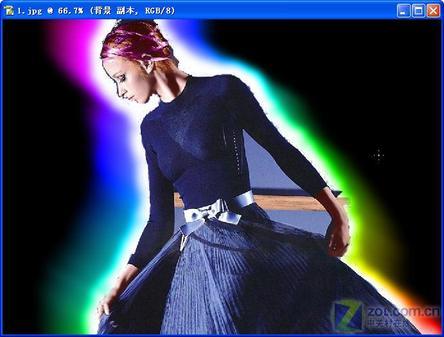 Photoshop美女:让美女照片眩起来-实例资源网数码守贞图片