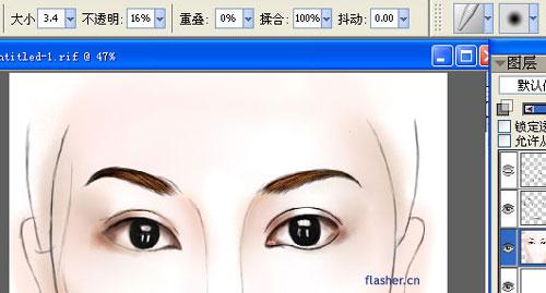 考虑到瞳孔的透视(圆形),在白色的那个类似长方块高光区,采用了扇形的