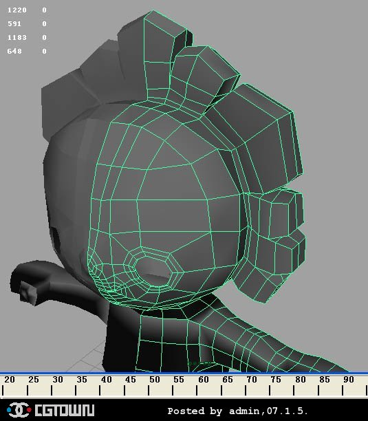 maya中法线贴图的应用的综述 6969 maya教程-金属圆环(金属材质)图片