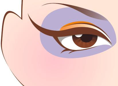 coreldraw鼠绘教程-矢量人物眼睛的画法