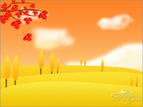 秋天主题画秋天来了儿童画秋天枫叶儿童画深秋简笔