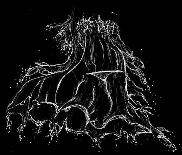 黑色可爱水笔画