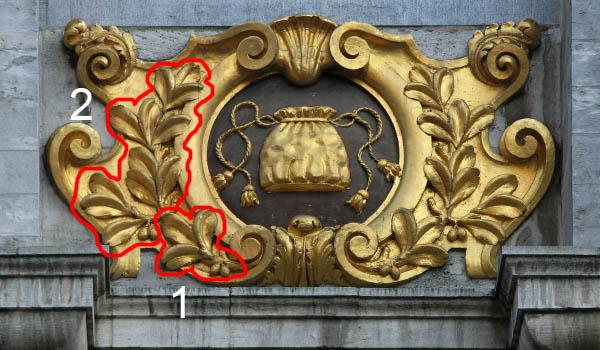 欧洲 几何 浮雕花纹