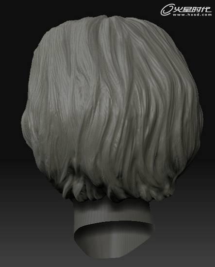 雕刻头发图片简单