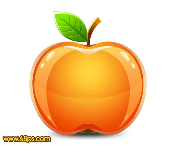 photoshop鼠绘教程 制作晶莹剔透的水晶苹果
