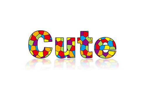 6969  本教程介绍彩色色块的文字效果非常绚丽可爱.