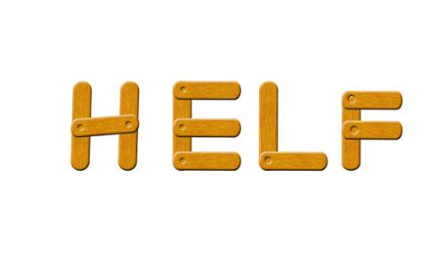 PS文字特效教程 打造漂亮的木质拼接字效果