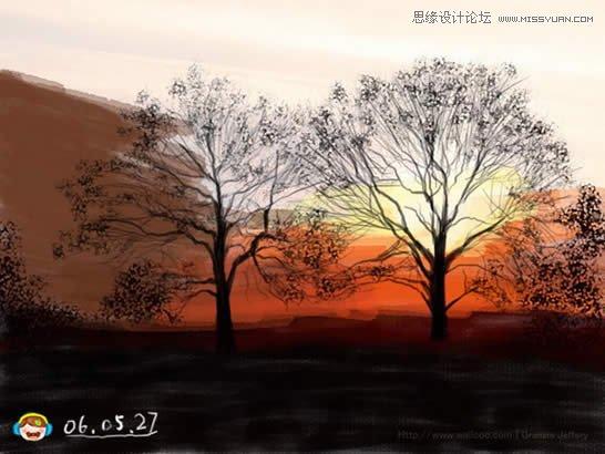 6969  5,以同样的方法画出另一棵树.
