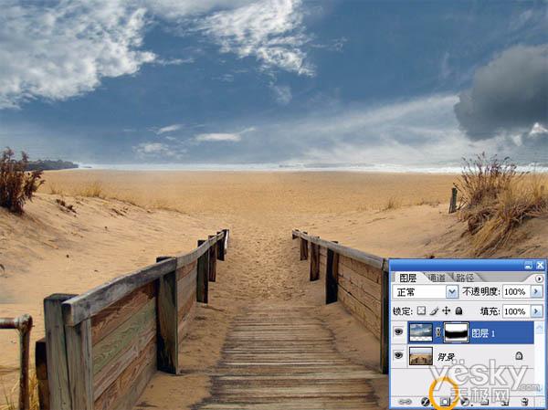 用溶图技巧把风景图片处理为唯美风格