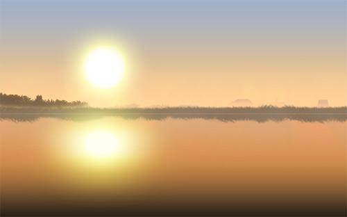升太阳 风景图片