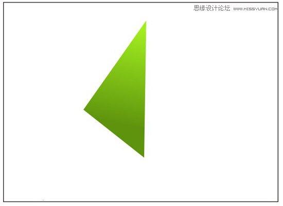 步骤二,接着利用上面同样的方法绘制另外一个三角形,并利用渐变填充