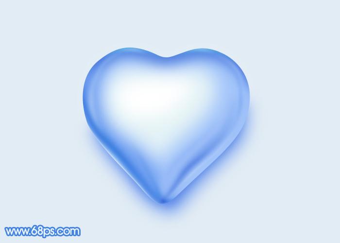 photoshop实例教程 制作情人节浪漫心形水晶