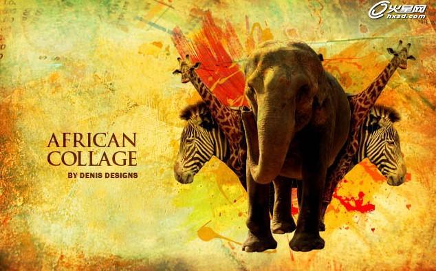 ps合成教程 打造欧美风格的动物海报效果