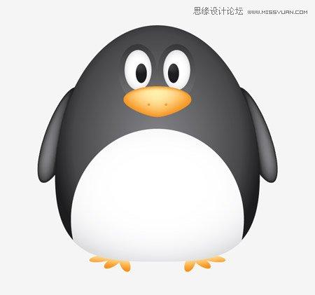 adobe illustrator教程 绘制一只胖嘟嘟的可爱企鹅