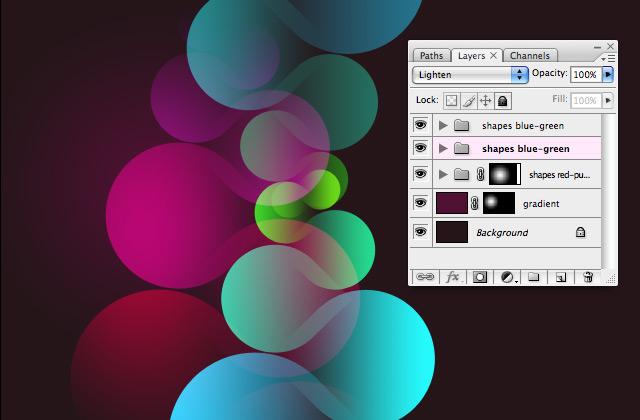 photoshop实例教程 绘制时尚的彩色水滴图形效果