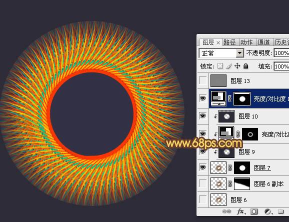 Photoshop教程丝线v教程教程实例编织的立体图全彩色刷a教程图片
